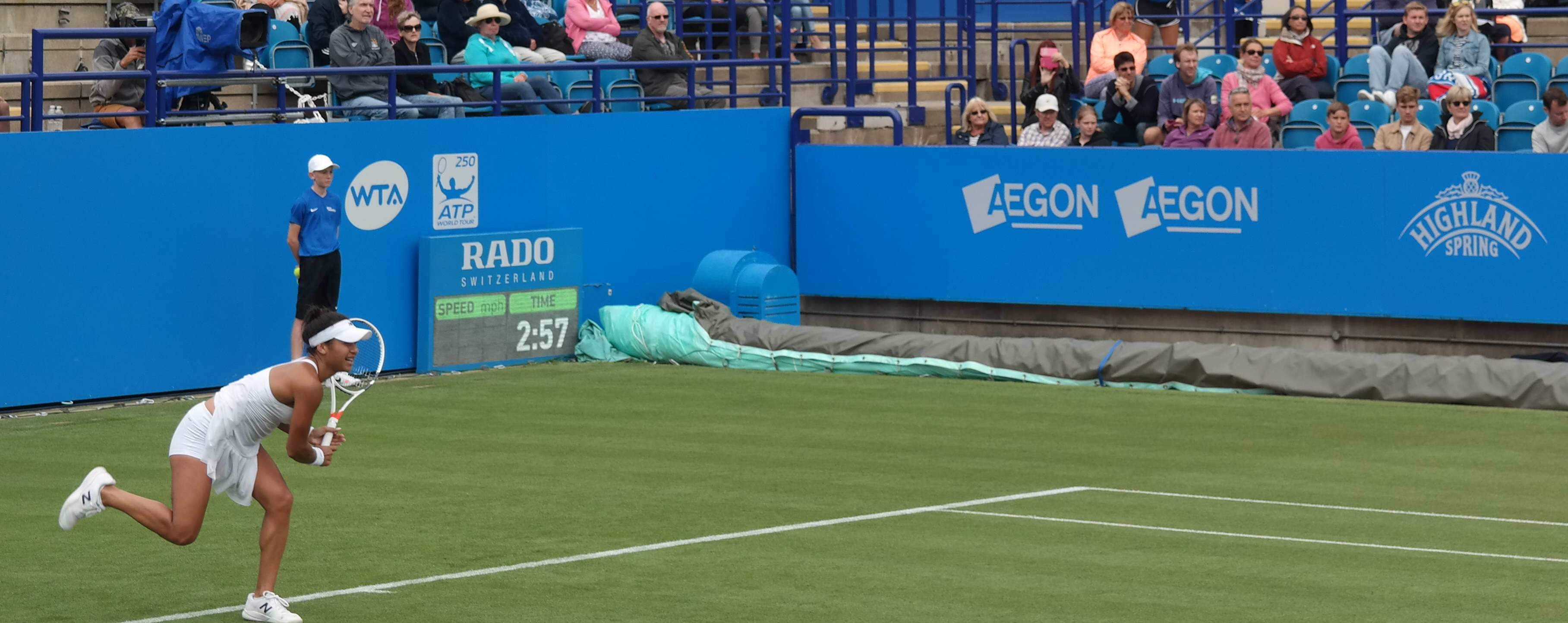 Heather Watson in action in final game of the match vs Tsurenko