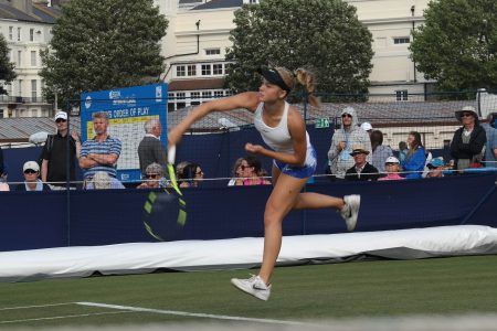 Katie Swan at Eastbourne 2017 copyright Tennis Talent