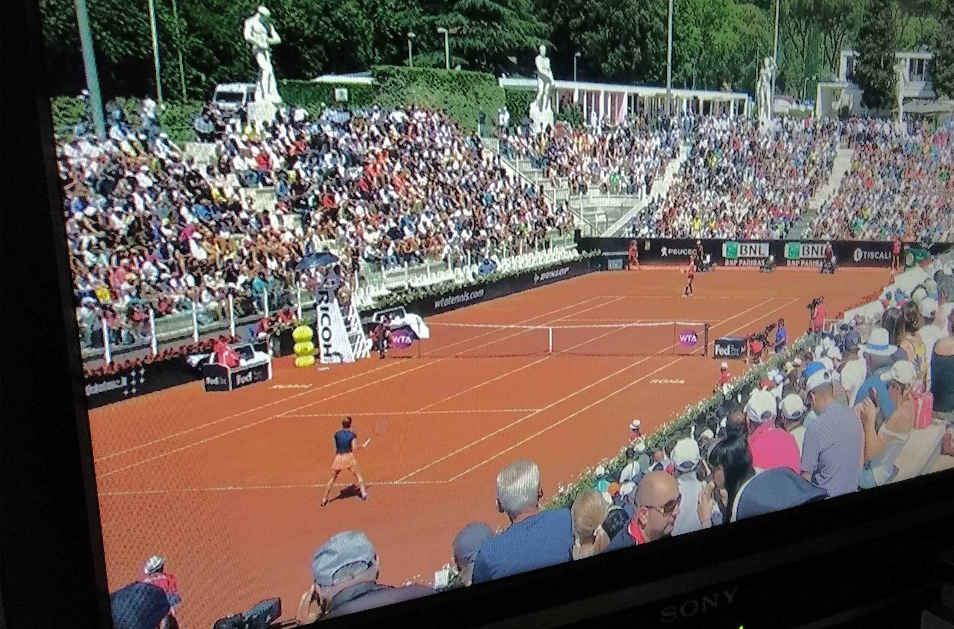 Watching tennis on TV