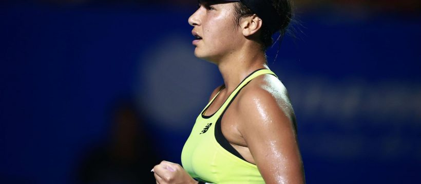 Heather Watson clenches her fist during Acapulco Final 2020